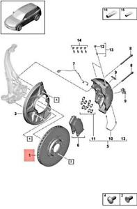 Genuine PORSCHE Cayenne 9YA Brake Disc Left Front 9Y0615301L