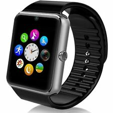 """GT08 1.54"""" Black Touch Screen Bluetooth Smart Watch Phone Mate For Android IOS"""