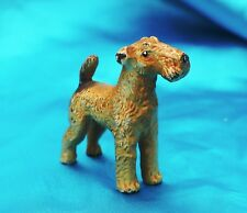 Vintage Heyde Solid Metal dog Airedale wire hair fox terrier Rascal Nice! *