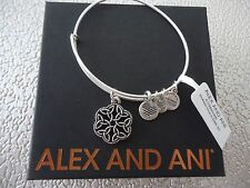 Alex and Ani ENDLESS KNOT III Russian Silver Charm Bangle New W/ Tag Card & Box
