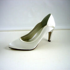 Mid Heel (1.5-3 in.) Court Leather Upper Bridal Shoes
