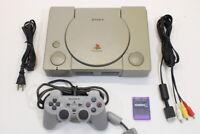 Sony PlayStation PS1 Console Controller AV/AC SPCH-7500 Japan Import PK121