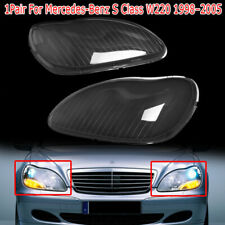 Headlight Headlamp Lens Covers For Benz W220 S600 S500 S320 S350 98-05 Set of 2
