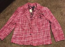 Lane Bryant Vintage Women's Coat Size 22 Pink Acrylic/wool Lined New With Tags