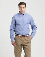 New! Tommy Hilfiger Men's Cotton Long Sleeve Casual Shirt Size XL/XXL Light Blue