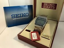 Seiko A239-502A Hora Mundial Cronógrafo Alarma Cuarzo Reloj Led Lcd 1