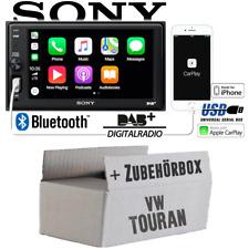 Radio Sony Bluetooth | DAB+ | Apple CarPlay | TFT | USB Einbauset für VW Touran