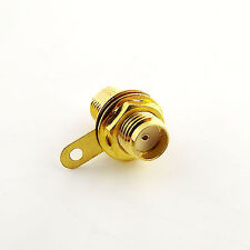 1pcs SMA Female Jack Panel Mount with nut bulkhead handle Solder RF Connector
