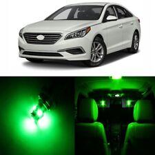 11 x Green Interior LED Lights Package For 2011 - 2017 Hyundai Sonata + TOOL