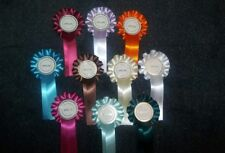 10 x special rosettes different colours single tier dog show event