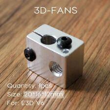 1Pcs RepRap E3DV6 Aluminio Calentador bloquear toda de metal de E3D V6 Extrusora para Hotend 20 *