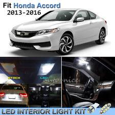 9pcs Bright White Interior LED Lights Package Kit For 2013-2016 Honda Accord