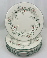 Pfaltzgraff Winterberry Dinner Plates Set 7 Holly USA