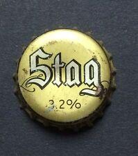 cork BEER cap crown STAG 3.2% Flat can label bottle sign METALLIC Belleville IL