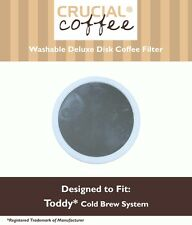 Reusable Toddy Cold Brew Coffee Stainless Steel Disk Filter Deluxe w/Rubber Seal
