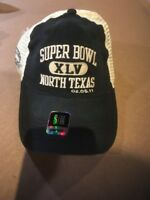 Stadium Collection NFL SUPER BOWL XLV Black HAT Mesh S/M PACKERS STEELERS