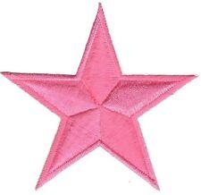 bc96 Rosa Pink Stern Star Aufnäher Applikation Bügelbild Kinder Baby Flicken
