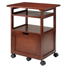 Winsome Wood 94427 Piper Work Cart / Printer Stand with key board, Walnut NEW