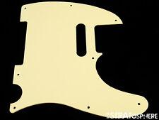 *NEW Cream Telecaster PICKGUARD for Fender USA Tele 1 Ply 8 Hole *Non Beveled