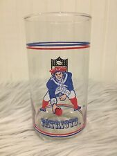 Vintage New England Patriots Mibile Gas Station Drinking Glass vintage