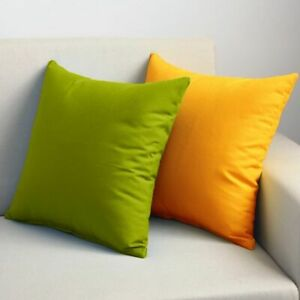 Solid Color Flexible Cushion Cover Stretch Pillow Case Polyester Sofa  Furniture