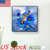 Bird DIY Diamond Painting Flower Cross Stitch Kits Home Decor Craft Art Gift USA