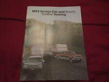 1973 DODGE CAR AND TRUCK TRAILER TOWING FACTORY ORIGINAL DEALER SALES BROCHURE