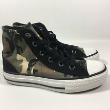 Boys Converse All Star Camouflage Camo Trainers Boots SIZE UK 10