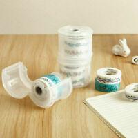 Portable Washi Tape Dispenser Paper Tape Roll Tape X2L0 Case Holder Box B9F0
