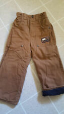 OSHKOSH FLEECE LINED PANTS SIZE 24 MONTHS LIGHT BROWN WITH BLUE LINING