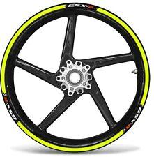 Set Bandes Adhésif Compatible Pour Roues Moto Gsx-R Suzuki Gsxr - Jaune Fluo