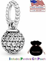 New Authentic PANDORA Sterling Silver S925 ALE Pave Ball Pendant Charm
