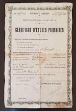 ACADEMIE BORDEAUX (Gironde)  CERTIFICAT D ETUDES PRIMAIRES 1917 / Melle COURNIOL