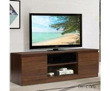 Entertainment Unit TV DVD Stand Storage Cabinet Cupboard & Shelving - Walnut