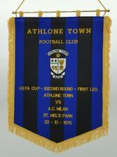 Athlone Towne FC v AC Milan 1975 Embroidered Pennant Gagliardetto Ricamato