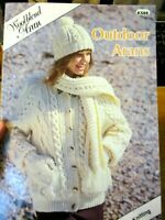 OUTDOOR ARANS  FOR THE FAMILY KNITTING PATTERN BOOK K 588