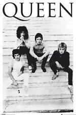 Queen On Steps B&W Poster Brian May Freddie Mercury New 24x36 Free Shipping