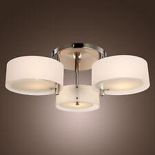 Modern Flush Mount Lighting 3 Light Ceiling Lamp Chrome Acrylic Chandeliers
