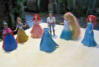 Disney Princess Magiclip Lot (2) ~ 6 Disney Princess Dolls & 6 Magiclip Dresses