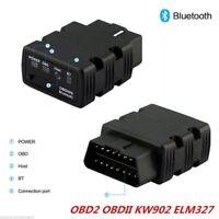 KW902 ELM327 Bluetooth Car OBD2 OBDII Auto Fault Diagnostic Interface BDRG NEW