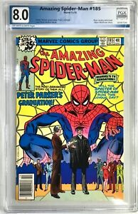 THE AMAZING SPIDER-MAN Comic # 185 - 1978 Marvel Comics Graded PGX 8.0 M Wolfman