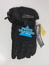 Nitro Racing Snowmobile Riding Gloves Black S Sm Small