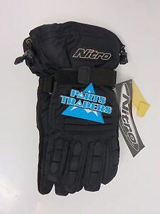 Nitro Racing Snowmobile Riding Gloves Black S Sm Small