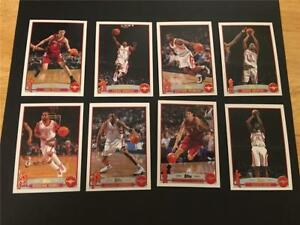 2003/04 Topps Houston Rockets Team Set 8 Cards Topps Collection