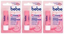3X BEBE Young Care Rose Roze Lip Balm Stick