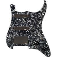 EMG SL20 Steve Lukather Alnico V SLV Single Coil Pickups Set Pickguard Black