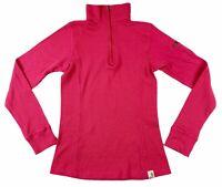 Carhartt Womens 1/4 Zip Long Sleeve Mock Neck Pullover Pink Shirt Small S 4/6