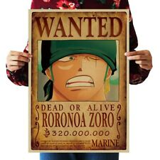 nursery wall decor RORONOA ZORO WANTED anime manga cosplay poster