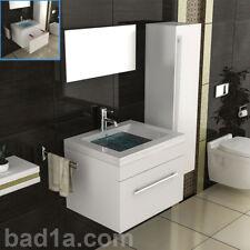 Weiss Badmöbel Waschbecken mit Unterschrank / Waschtischunterschrank Eckig Möbel