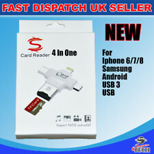 4 in1 Micro USB Type C OTG Micro SD TF lecteur de carte pour iPhone 7 6 Android PC NEUF